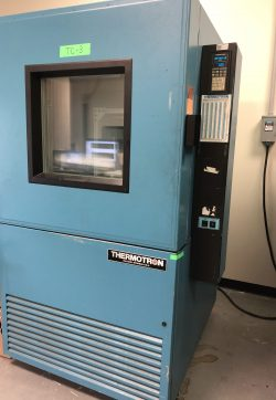 Thermotron thermal chamber for temperature testing